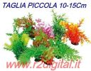 PIANTINA ARTIFICIALE 5Pz ACQUARIO 10-15cm PICCOLA PIANTA PLASTICA