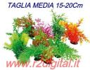 PIANTINA ARTIFICIALE 5Pz ACQUARIO 15-20cm PICCOLA PIANTA PLASTICA