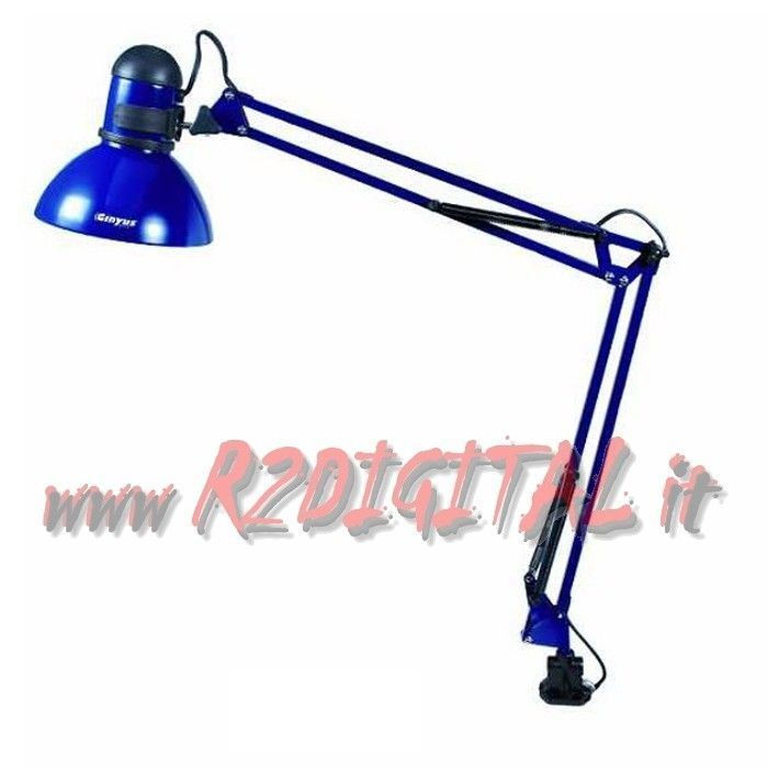 lampe schreibtisch mit zwinge arm fixierbar malerei studio schule b ro ebay. Black Bedroom Furniture Sets. Home Design Ideas