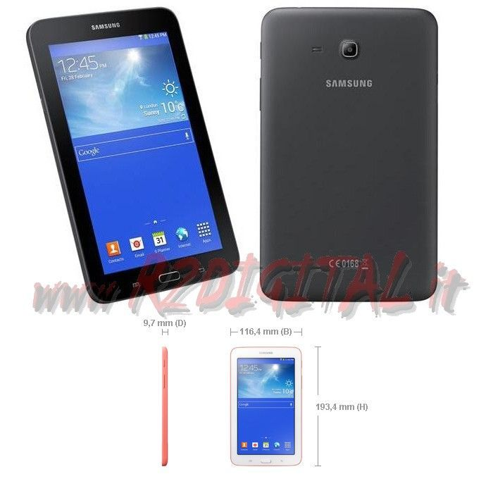 tablet samsung galaxy tab 3 lite 7 8gb android gps hd micro sd nero bianco usb ebay. Black Bedroom Furniture Sets. Home Design Ideas